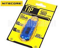 NiteCore TIP Cree XP-G2 360lm 74m USB Pocket Keychain Flashlight Blue
