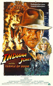 """Indiana Jones And The Temple Of Doom - Movie Poster (Regular Style) (27 X 40"""")"""