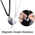 2pcs Magnetic Couple Heart Pendant Necklace Lovers Women Chain Jewelry Gifts Hot