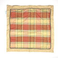 Waverly Plaid Euro Pillow Sham Tan Red Rope Trim