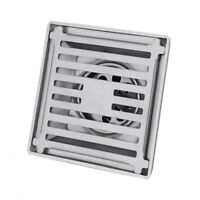 Stainless Steel Square Anti-odor Bathroom Floor Drain Shower Caliber Silver