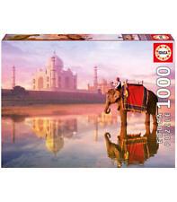 Puzzle 1000 partes - elefante en la Taj Mahal de educa