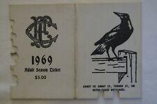 Collingwood Magpies Vintage 1969 AFL-VFL Football Members Season Ticket Card