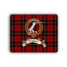 Wallace Scottish Clan Mousepad Tartan Crest Motto Computer Mouse Mat
