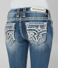 Rock Revival Sundee Bottes Extensible Jean Strass Nwot Pdsf Taille 26 X 32