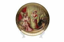 Royalty Porcelain 1-pc Wall Mount Plate Lady and Piano, Bone China Porcelain