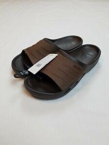 Crocs Men's Bogota Slide Sandals Brown Size 11 NEW 204972-22Z