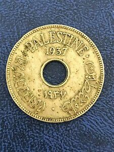 Palestine 10 Mils 1937, Rare Coin, Only 750,000 Minted!