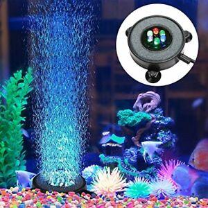 Supmaker Aquarium Air Stone Fish Tank Led Air Stone Bubble Light with 6 Color