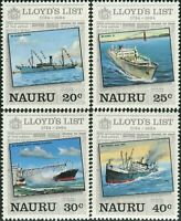 Nauru 1984 SG295-298 Lloyd's List set MNH