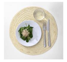 Ikea SLUTEN Stylish Place mat Palm leaf/natural 37cm dining table place mat-B786