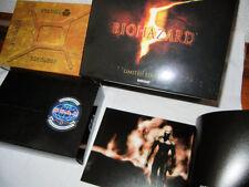 USED BIOHAZARD Resident Evil 5 Ltd Box Artbook Original USB BSAA team bag
