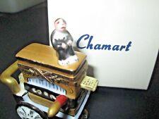 "RARE Chamart Limoges ""Peint a la mein"" Lomageo France Organ grinder with Monkey"