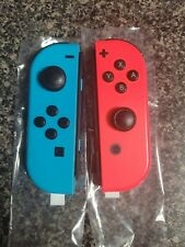 Nintendo Joy Con Controllers Neon Red & Blue Parts Or Repair Drift Issues