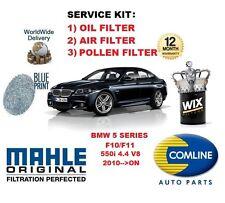 pour BMW Série 5 F10 F11 550 4.4 V8 2010> a Huile Air Filtre à Pollen