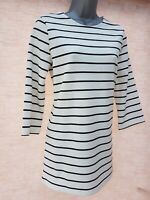 Ladies Womens M&S Tunic Stripe Top Shift Sweatshirt TShirt Jumper Size 6-22