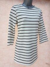 24a683e6925773 Ladies Womens M&S Tunic Stripe Top Shift Sweatshirt TShirt Jumper Size ...