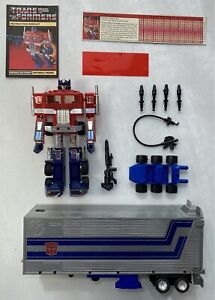 Original 1984 Hasbro Transformers Optimus Prime G1 100% Complete