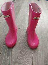 Girls Hunter Wellies Size 10 Pink Glitter