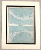 1899 Antique Astronomical Map Astronomy Stars Horoscope 19th Century Original