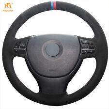 DIY Suede Steering wheel Cover for BMW F10 523Li 525Li 730Li 740Li 750Li #01119
