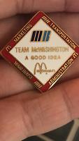 Vintage Mcdonalds pin Team Washington