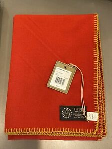 CC Filson Co. - Cascade 100% Merino Wool Scarf - Red - Made in USA! Brand New!