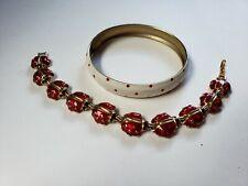 Cute Fashion jewelry Lady Bug Bracelet Set