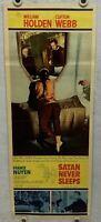 1962 Satan Never Sleeps Insert 14 x 36 Movie Poster William Holden Clifton Webb