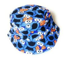 Cool LIGHT BLUE COOKIE MONSTER BUCKET HAT UK SELLER