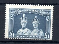 Australia 1937-49 £1 bluish slate SG178 fine mint MNH WS19405