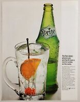 1964 Print Ad Sprite Soda Pop in Bottle Tom Jones Drink