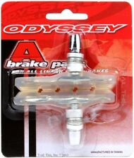Odyssey A-Brake Clear BMX Bicycle Brake Pads / Shoes Threaded Posts Soft