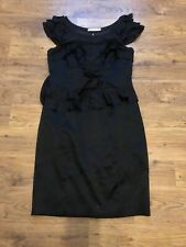 Black Silk Ruffle Dress From Karen Millen Size 14
