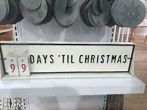 HEARTH AND HAND MAGNOLIA METAL DAYS TILL CHRISTMAS COUNTDOWN CALENDAR
