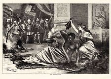 THE MODERN SAMSON Southern Democrats Delilah Cut Off Black Mans Hair T Nast 1868