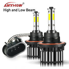 Combo LED 9008 H13 Headlight Bulb Hi Lo Beam White Lamp for GMC Yukon 2007-2014