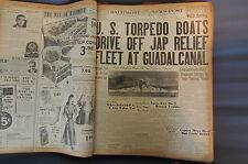 WW2 NEWSPAPER January 5 1943 US Torpedo Boats Drive Off Jap Relief BNP NWS