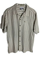 Columbia XCO Men's short sleeve outdoor button down shirt Tan plaid L