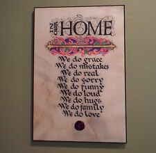 Contemporary Celtic Plaque: In our Home 12 x 18 Book of Kells Lettering