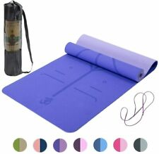 Pilates Yogamatte TPE Sport Fitnessmatte mit Tragegurt  Tasche 183*61*0.6cm E0N1
