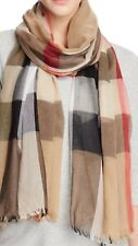 NWT 100% Authentic Burberry Sheer Mega Check Scarf 200X90CM $395