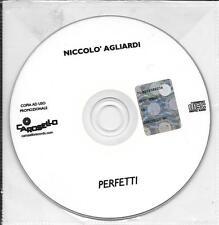 """NICCOLO' AGLIARDI - RARO CDs PROMO """" PERFETTI """""""