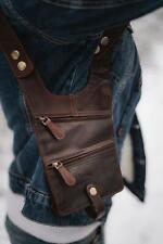 Wombat Outback Brown Leather Shoulder Holster Wallet NEW