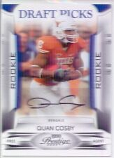 quan cosby rookie rc auto autograph texas longhorns college #/499