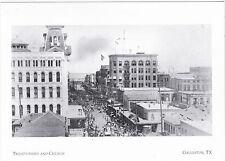 "+PC-Postcard-""Parade on  23rd & Church Street"" @ Galveston, Texas (A7-2)"