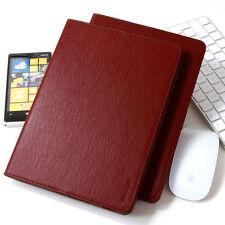 Premium Leder Cover Samsung Tab S2 Schutzhülle Case Tasche Tablet Galaxy rot