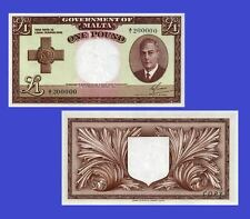 Malta currency 1 Pound 1949. UNC - Reproduction