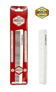 BARBER SALON PRO HAIR STYLING CARBON ANTI-STATIC CUTTING CLIPPER COMB WHITE G206
