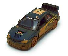 Kinsmart 2007 Subaru Impreza WRC 1:36 scale model Rallye Monte Carlo Muddy K58B